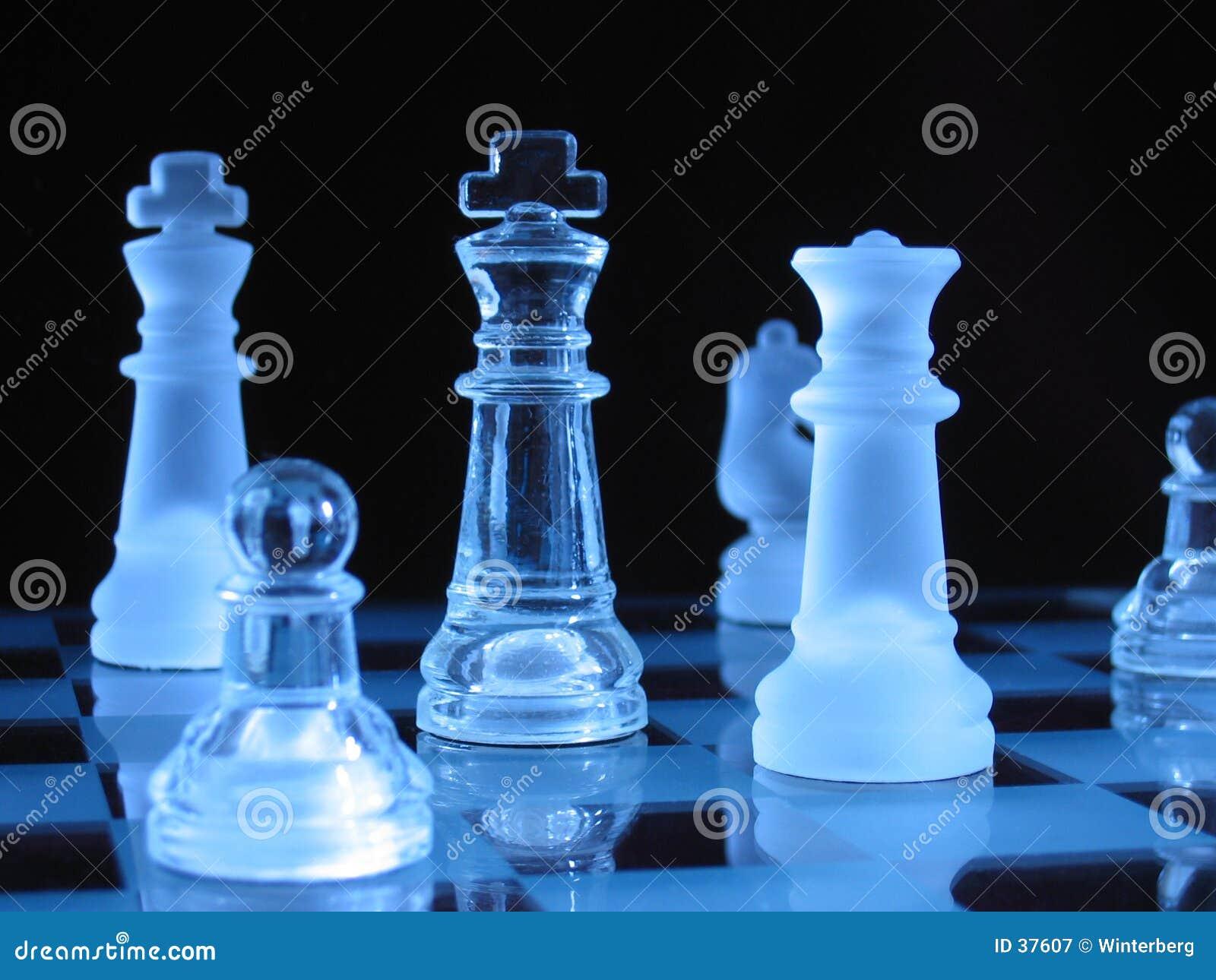 Download Piezas De Ajedrez De Cristal Imagen de archivo - Imagen de chessmen, oscuro: 37607