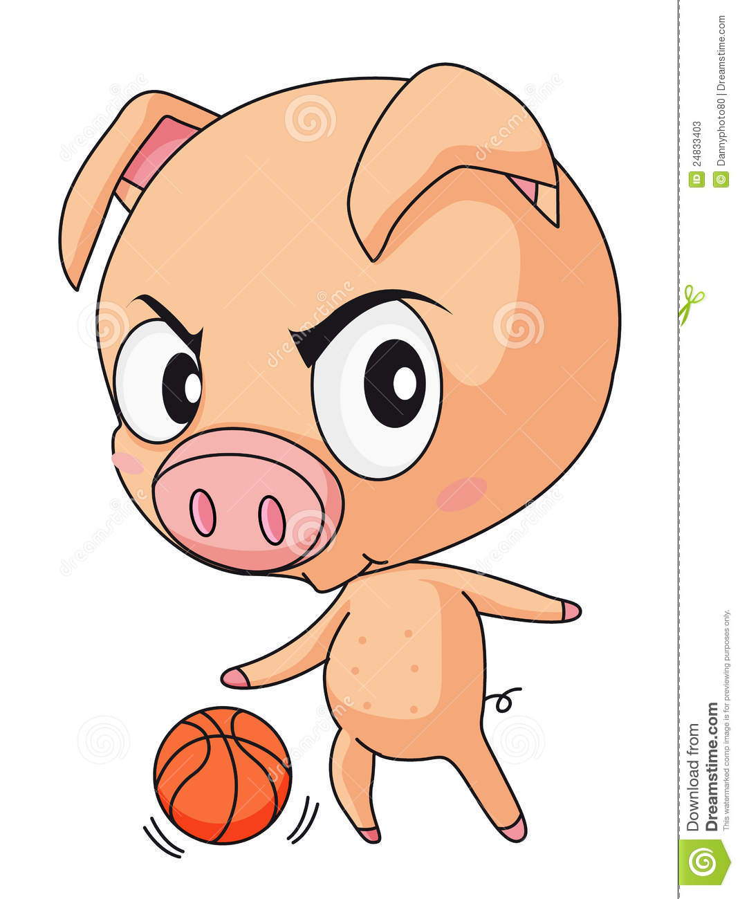 Pig Basketball Stock Photos - Image: 24833403