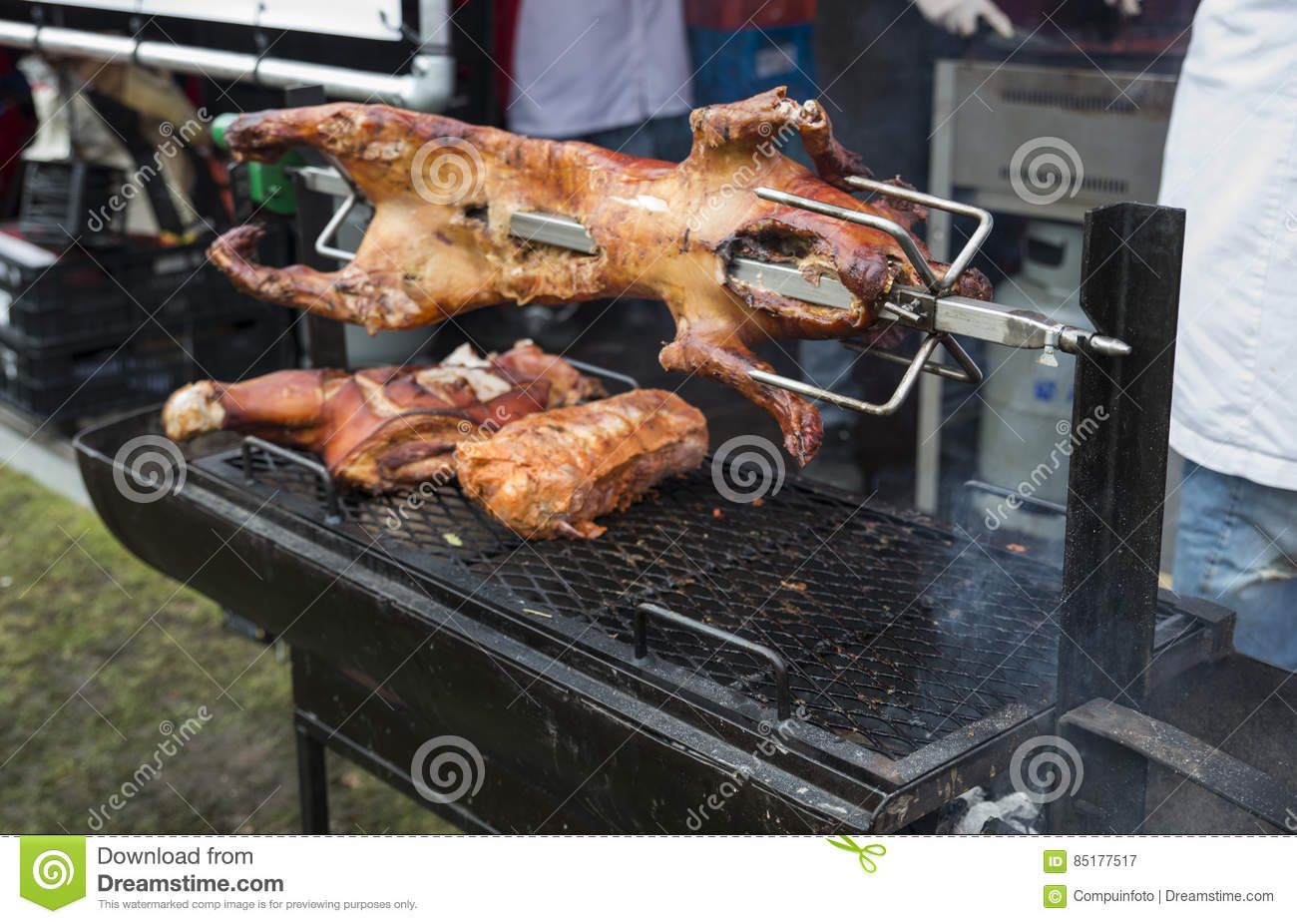 Barbecue Restaurant Rotterdam.Pig On The Bbq In Rotterdam Stock Image Image Of Cooking Pork