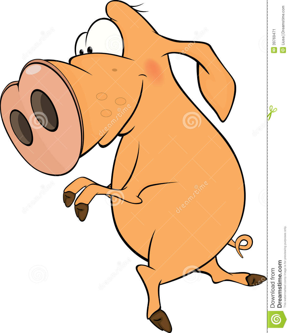 Cartoon Characters With Big Noses : Pig cartoon stock vector image