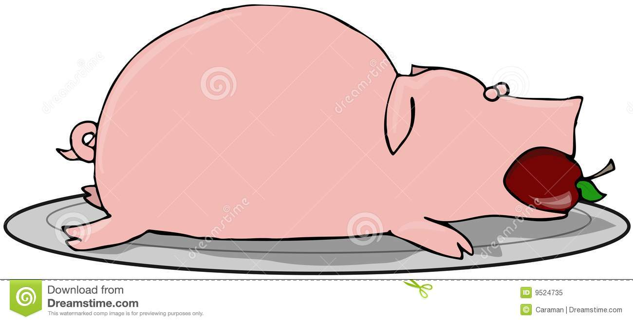 pig roast stock illustration image of cooked  plate Pig Roast Logo Pig Roast Logo