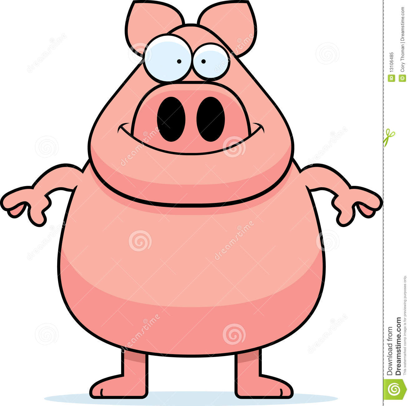 Animated pigs standing - photo#3