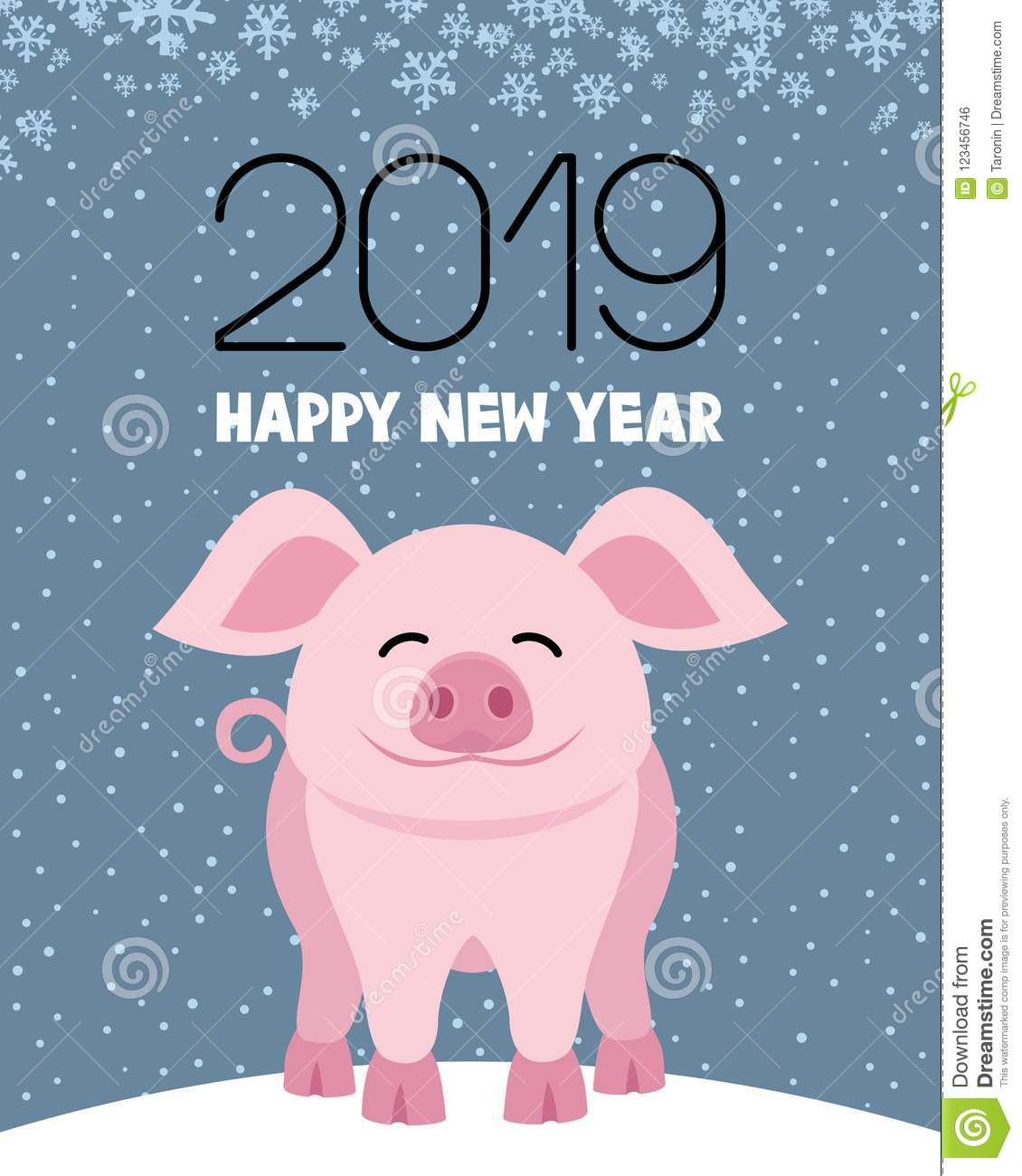 Pig symbol of the New Year.