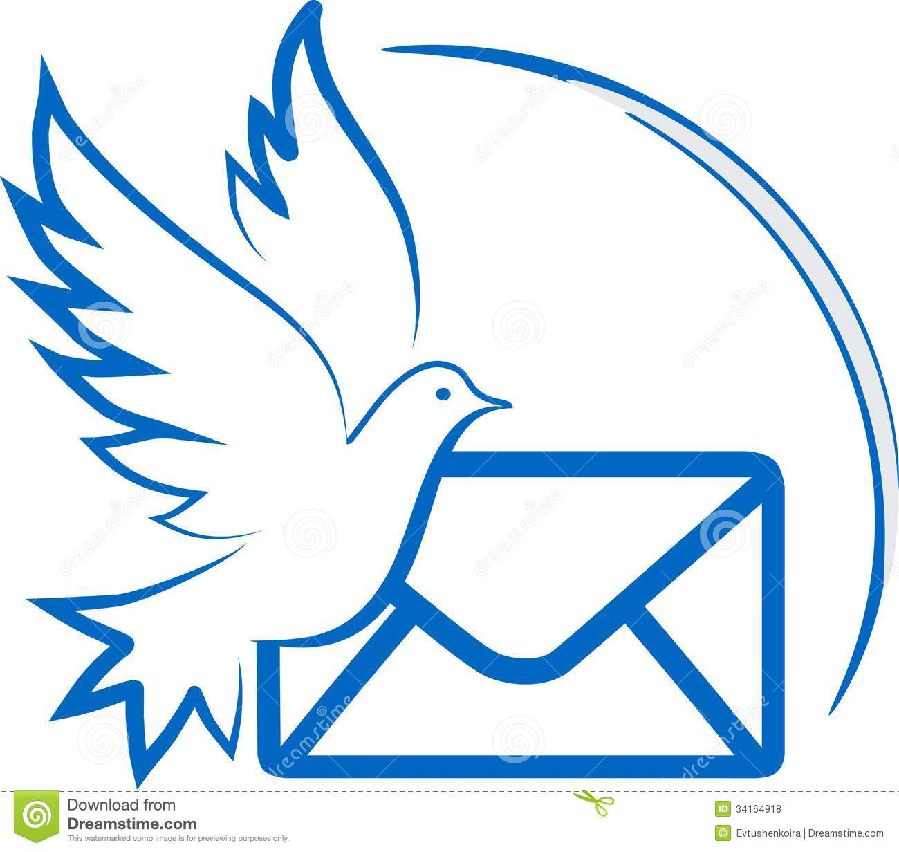 Pigeon Stock Vector Illustration Of Deliver Coloured