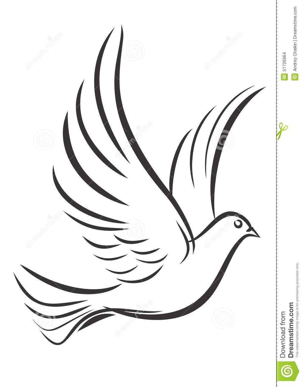 Pigeon In Flight. Stock Vector - Image: 51726964