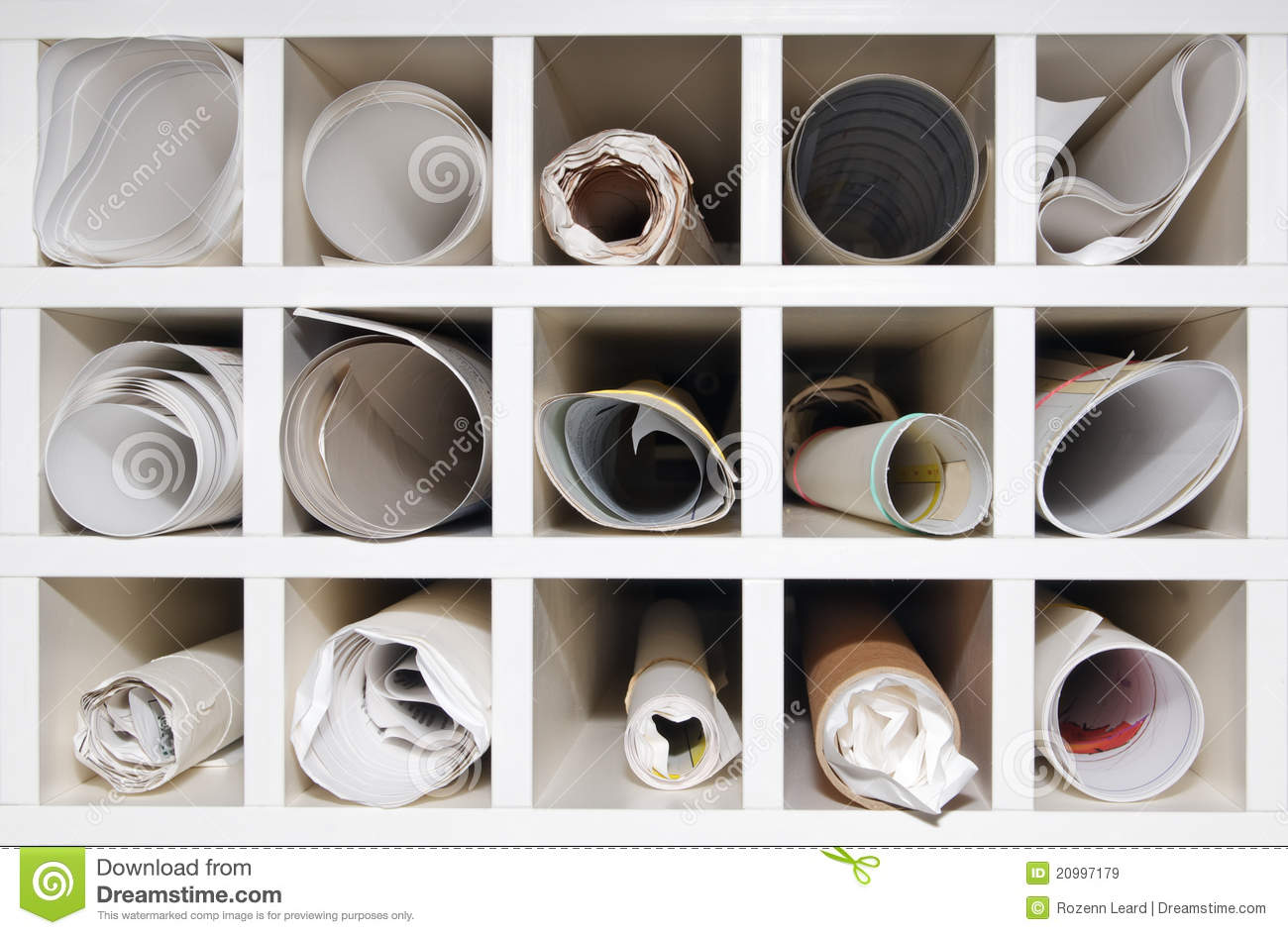 Pigeon Hole Storage Stock Image Image Of Rack