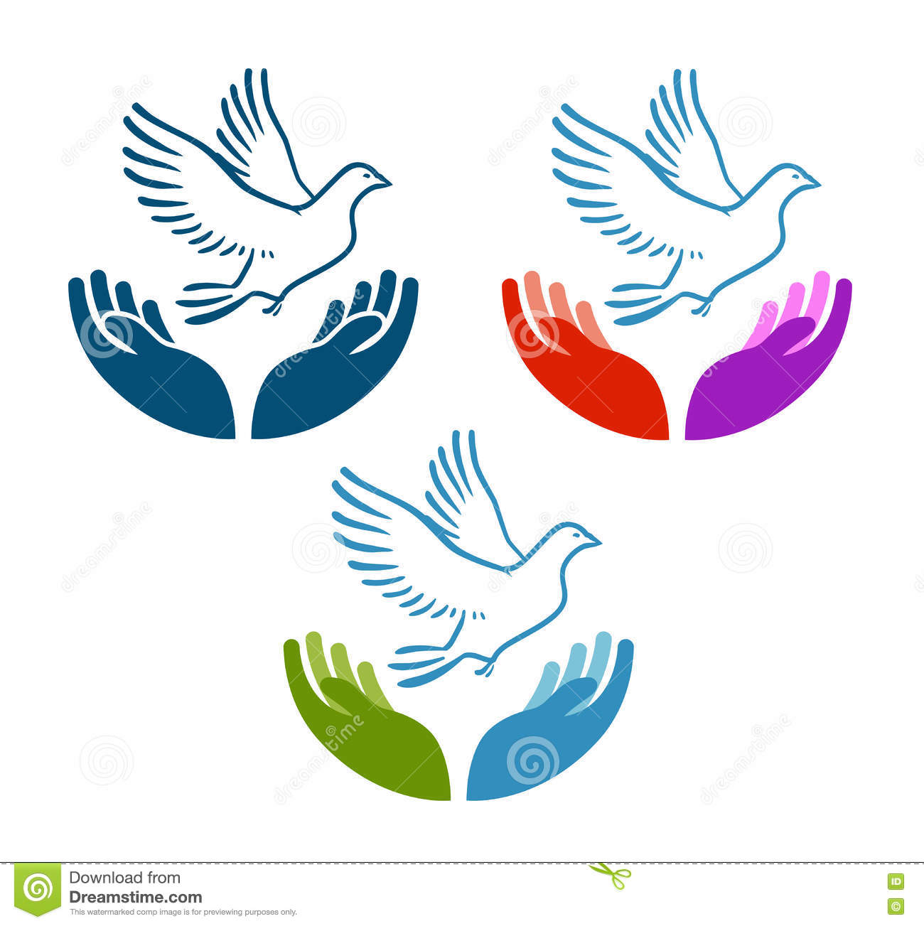 Pigeon Of Peace Flying From Open Hands Icon Charity Ecology