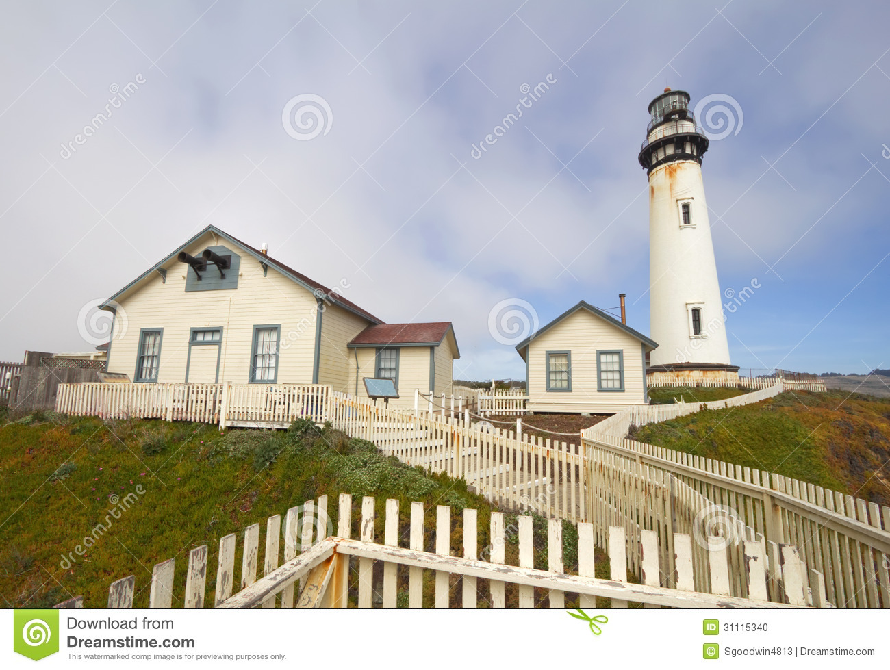 The Pigeon Point Lighthouse On The Central Coast Of