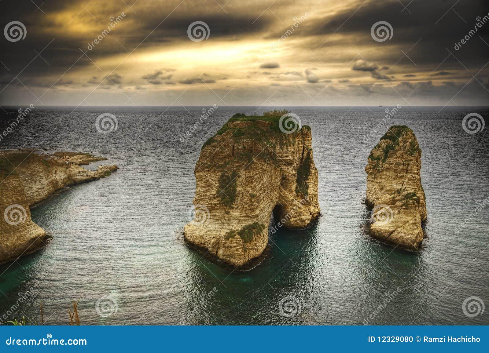 Pigeon Rocks, Beirut- Lebanon