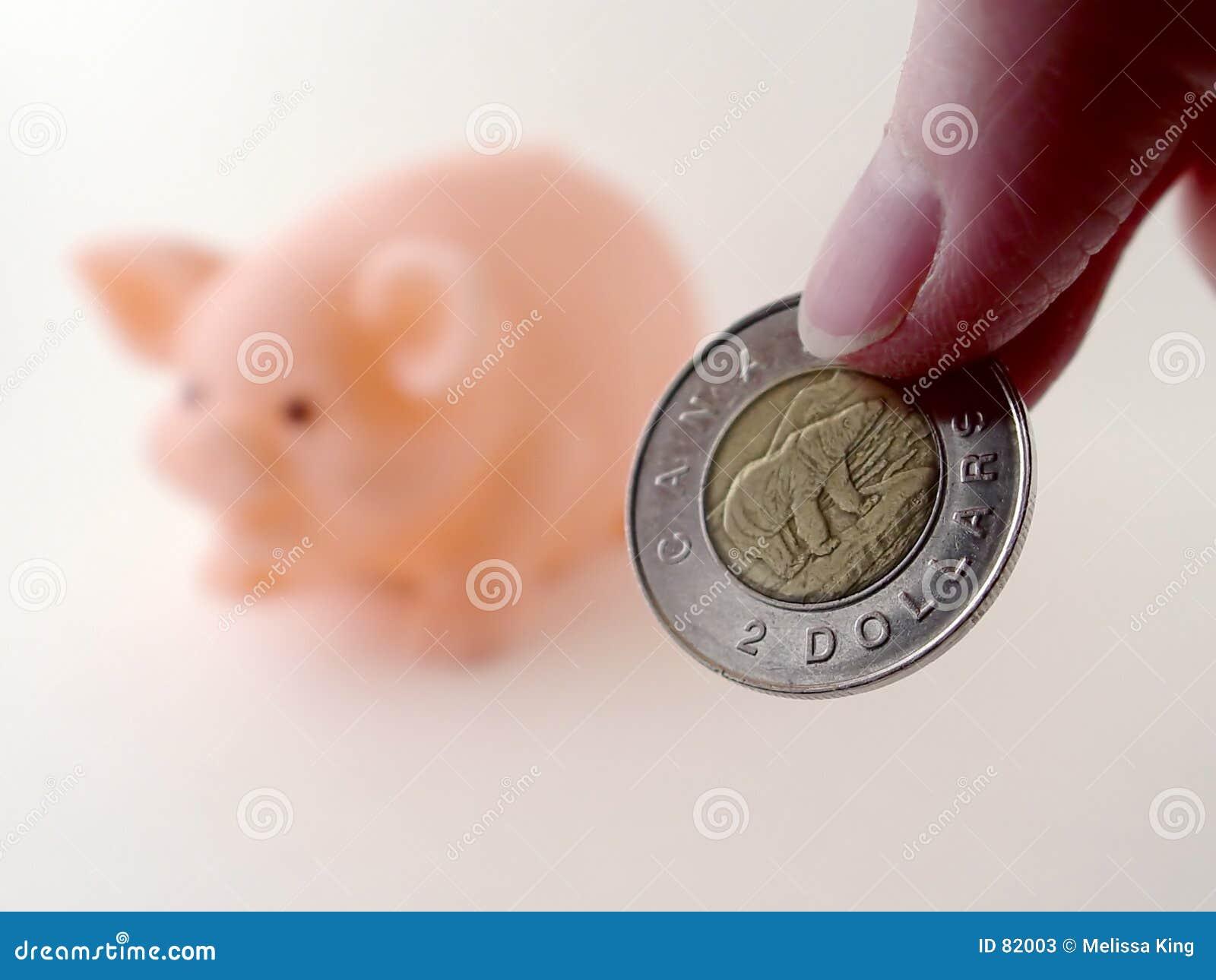 Piggy δύο δολαρίων τραπεζών