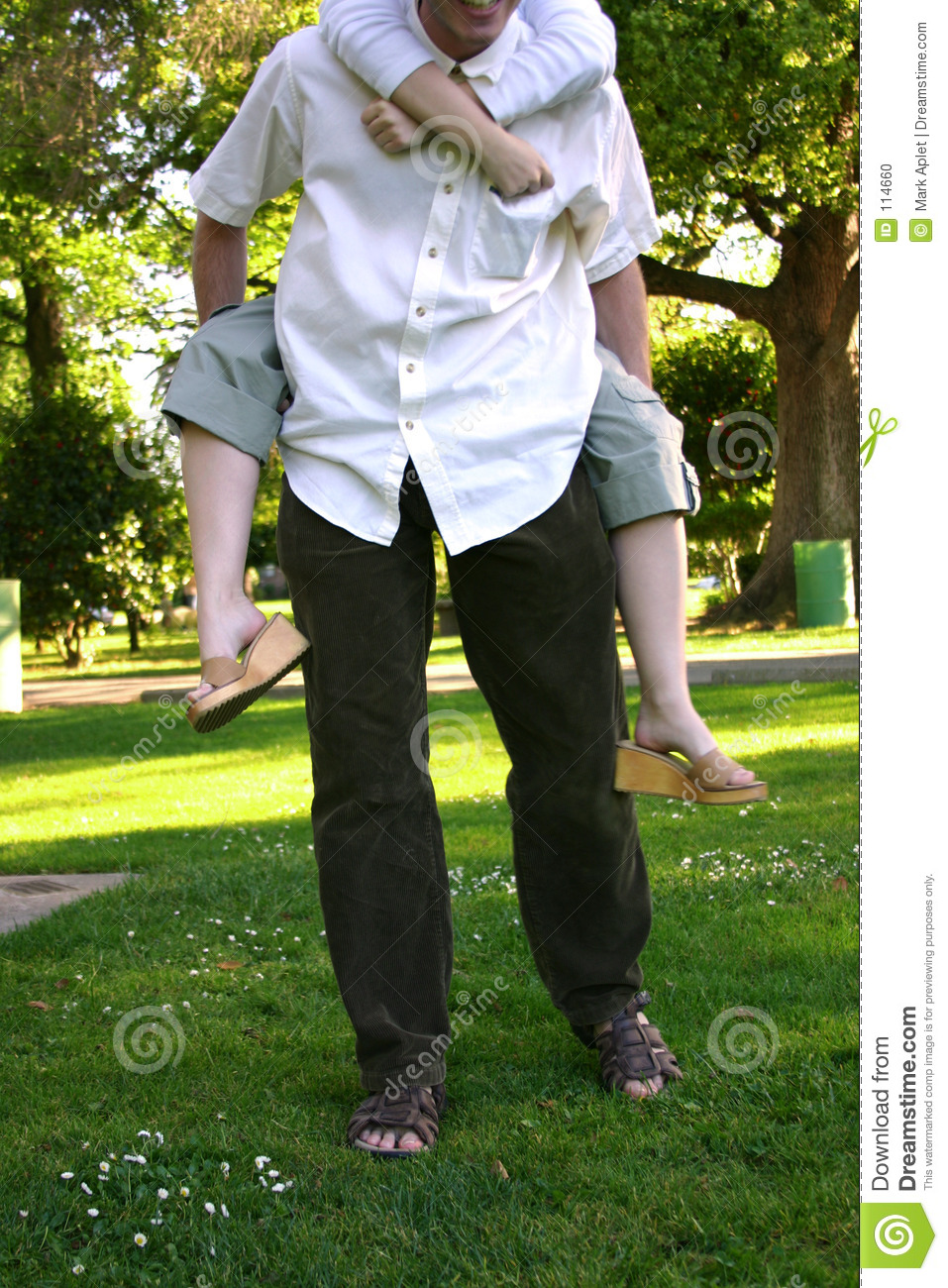Download Piggy-back ride stock photo. Image of embraced, adoring - 114660
