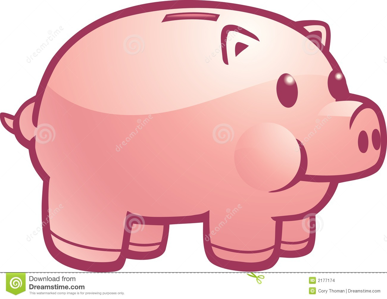 Piggy Bank Clipart Cartoon piggy bank stock photos, images, & pictures ...