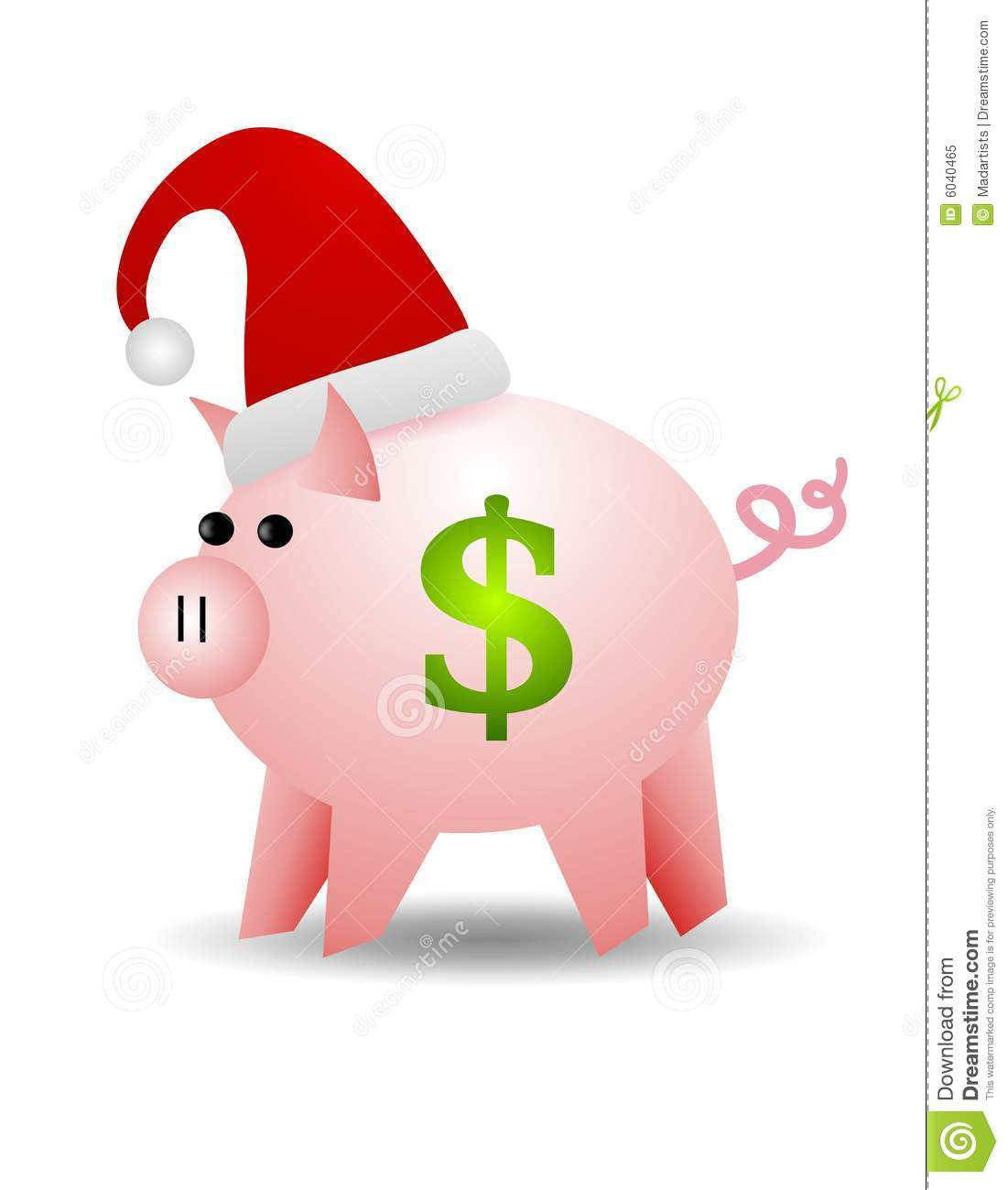 Piggy Bank Cash For Christmas Royalty Free Stock Photo ...