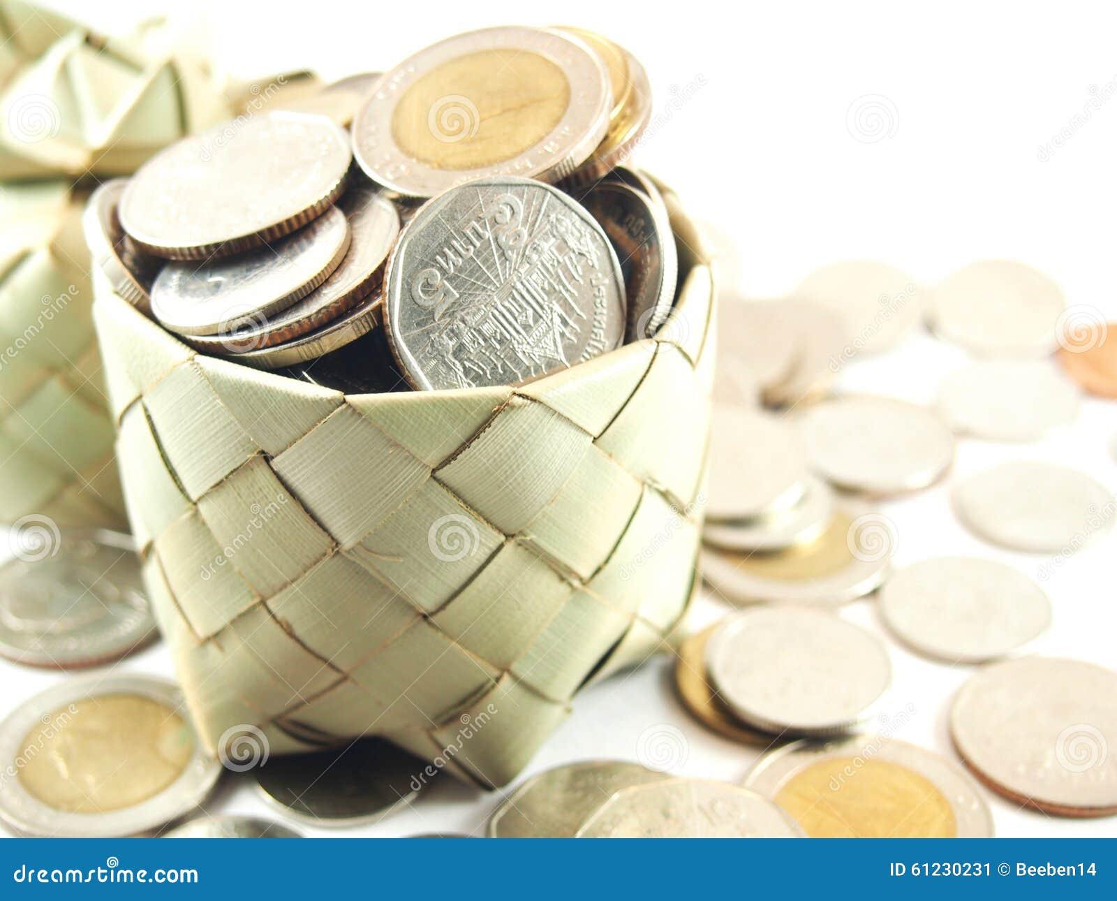Piggy bank, coins collection, save money