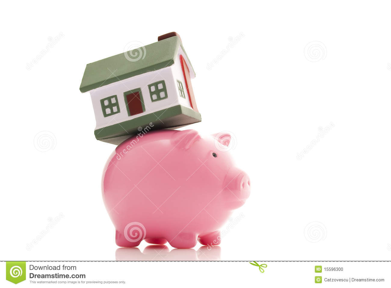 Piggy Bank And House Stock Photo Image 15596300