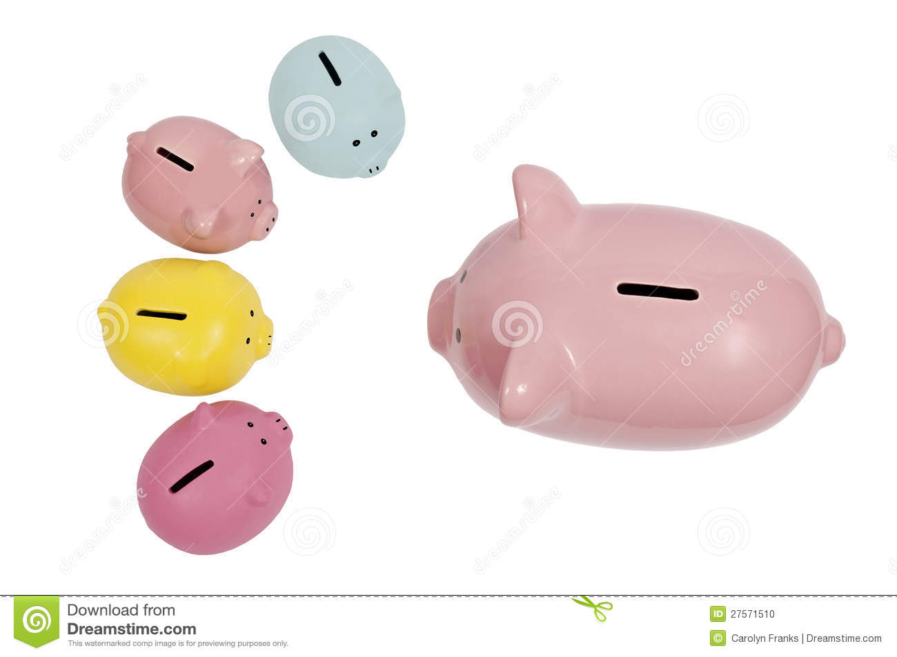 Piggy bank parent talks to kids stock photo image 27571510 for Piggy bank for toddlers