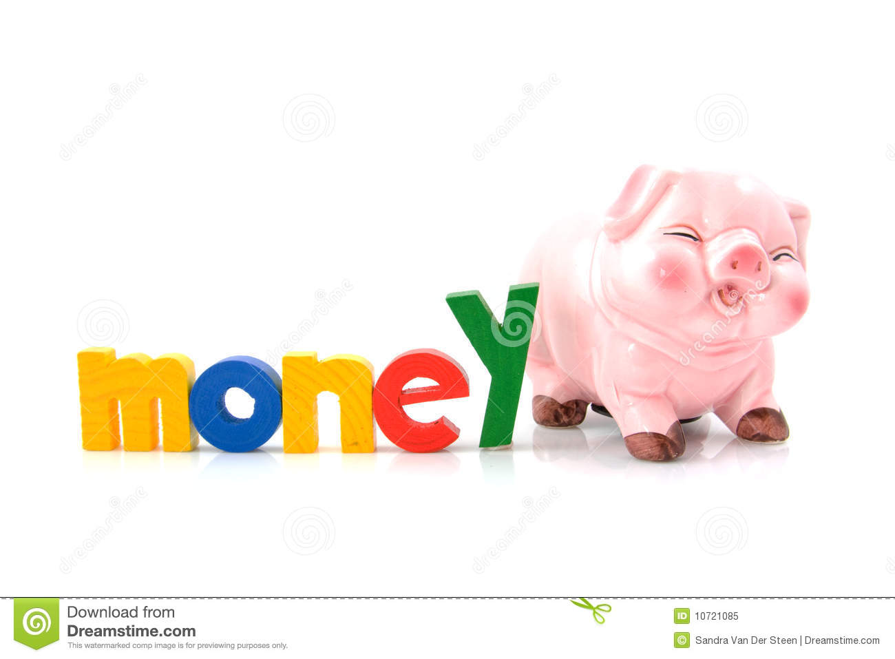 Piggy bank withe the word money royalty free stock photo for How to make a piggy bank you can t open