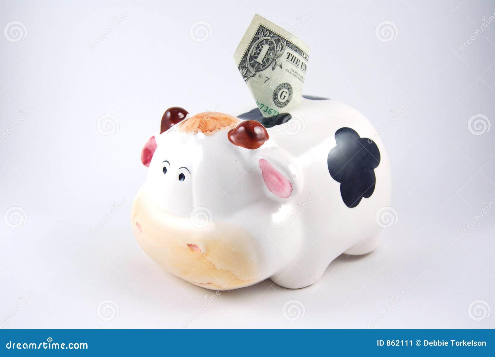 Piggy Querneigung der Kuh