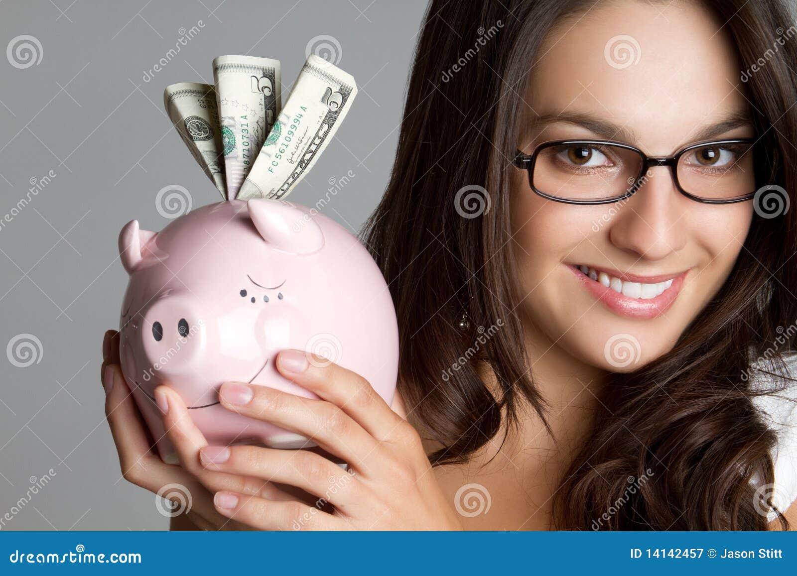 Piggy Querneigung-Frau