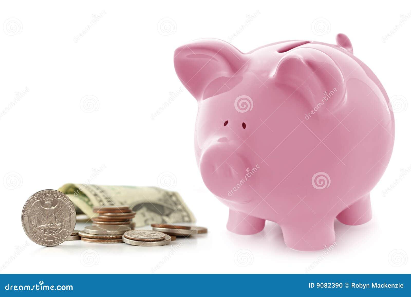 Piggy Querneigung mit Geld