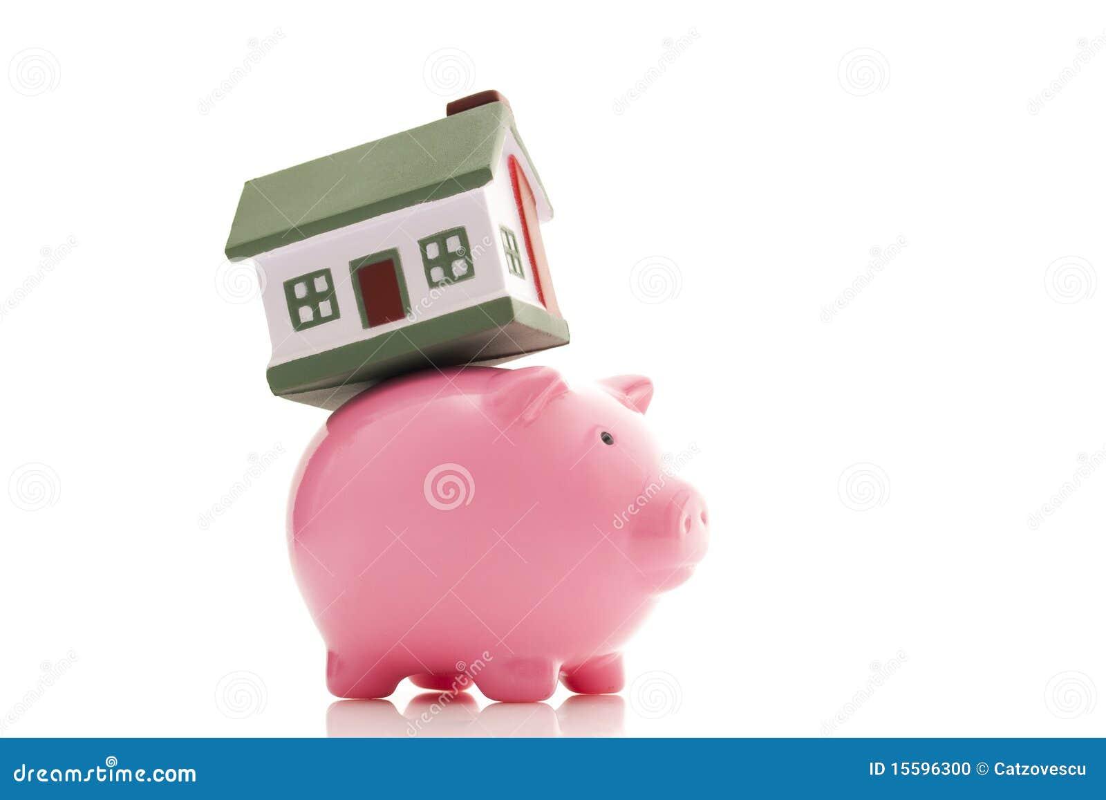 Piggy Querneigung und Haus