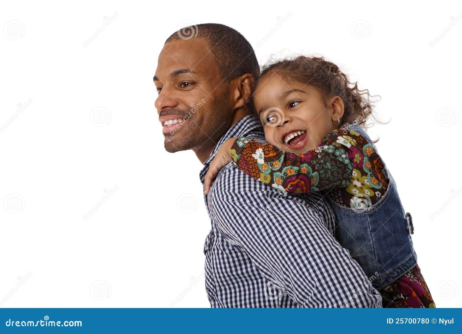 Piggyback отца и дочи