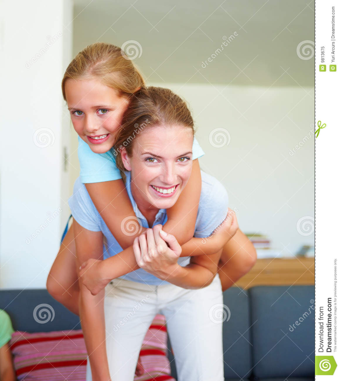 Mother and daughter having fun-3510