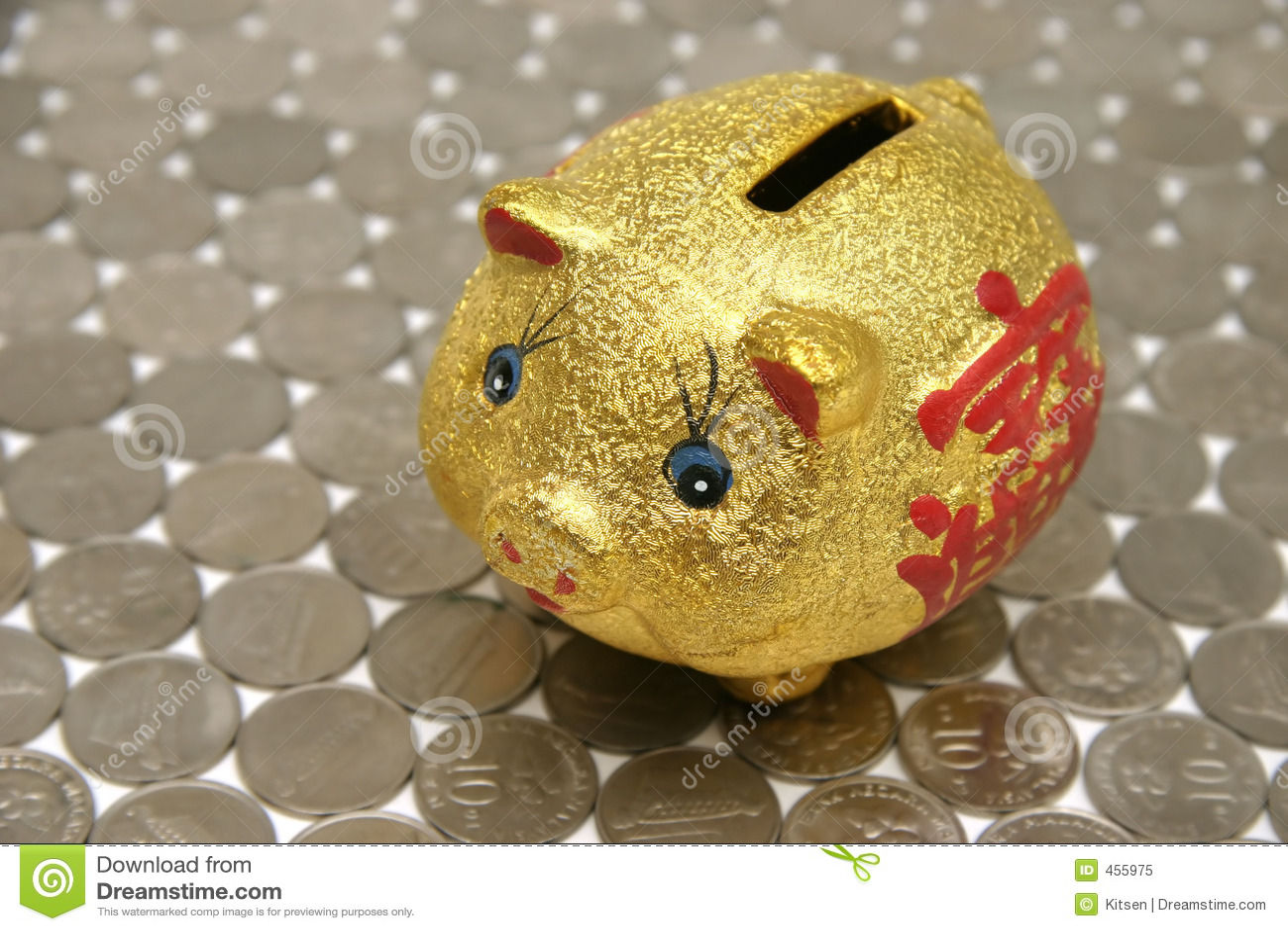 Download Piggybank stock image. Image of foil, cute, power, splayed - 455975