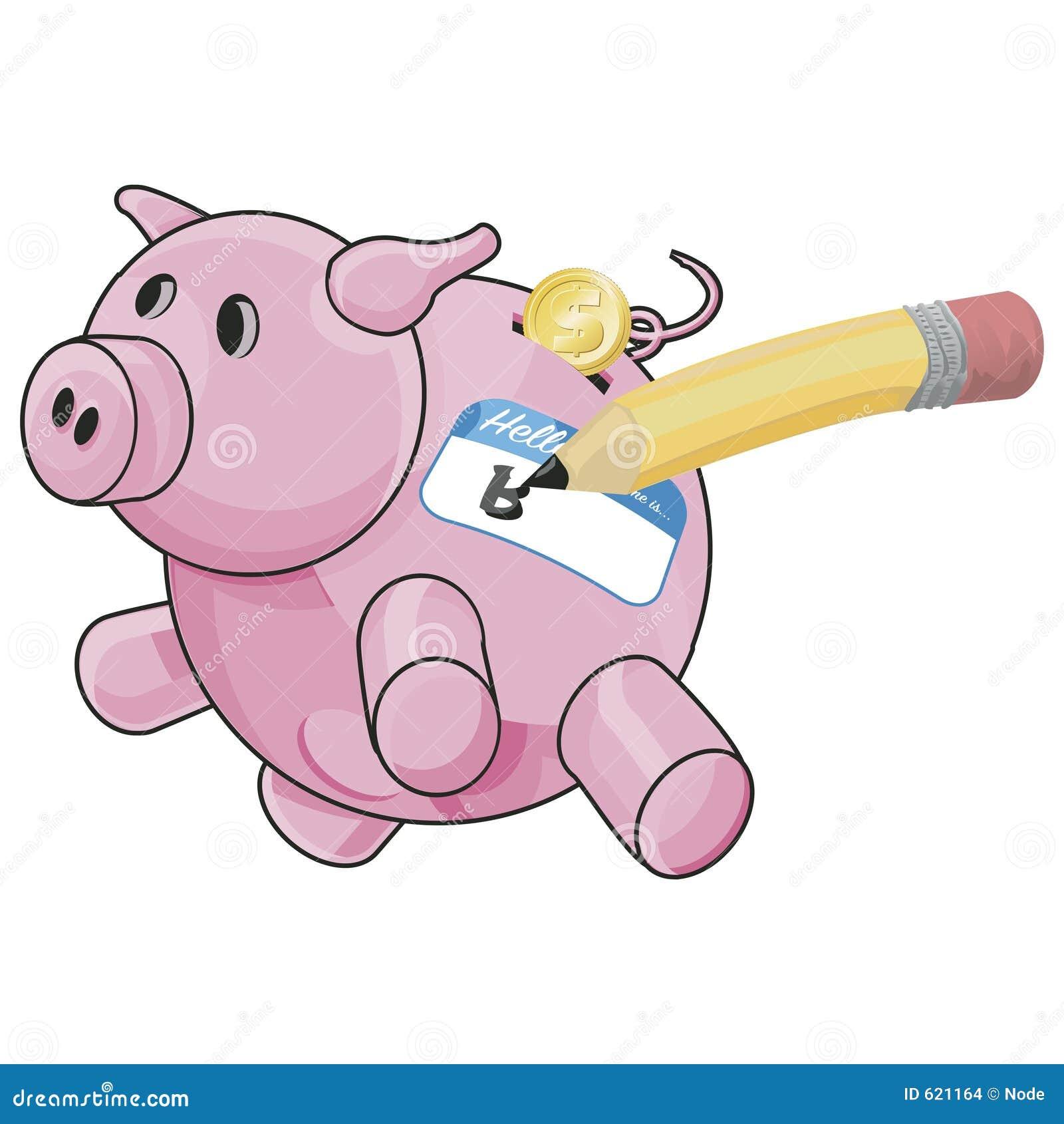 Piggybank met het knippen van weg