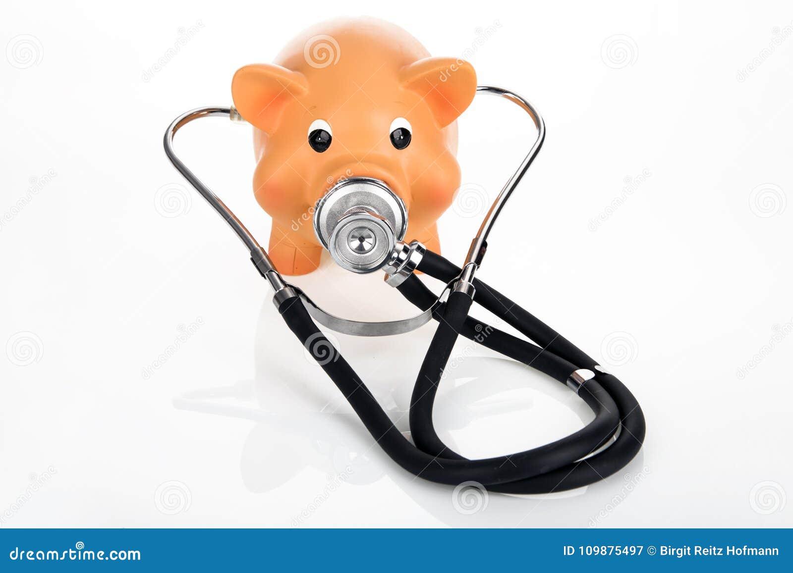 Piggybank met Stethoscoop