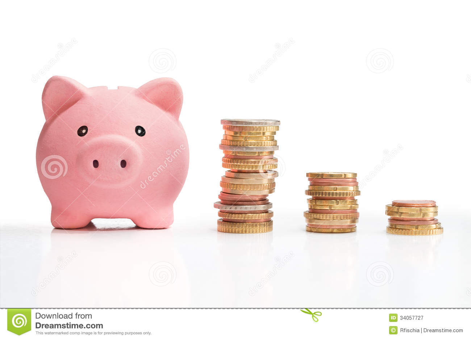 Piggybank: torre del dinero de la pizca de la carta