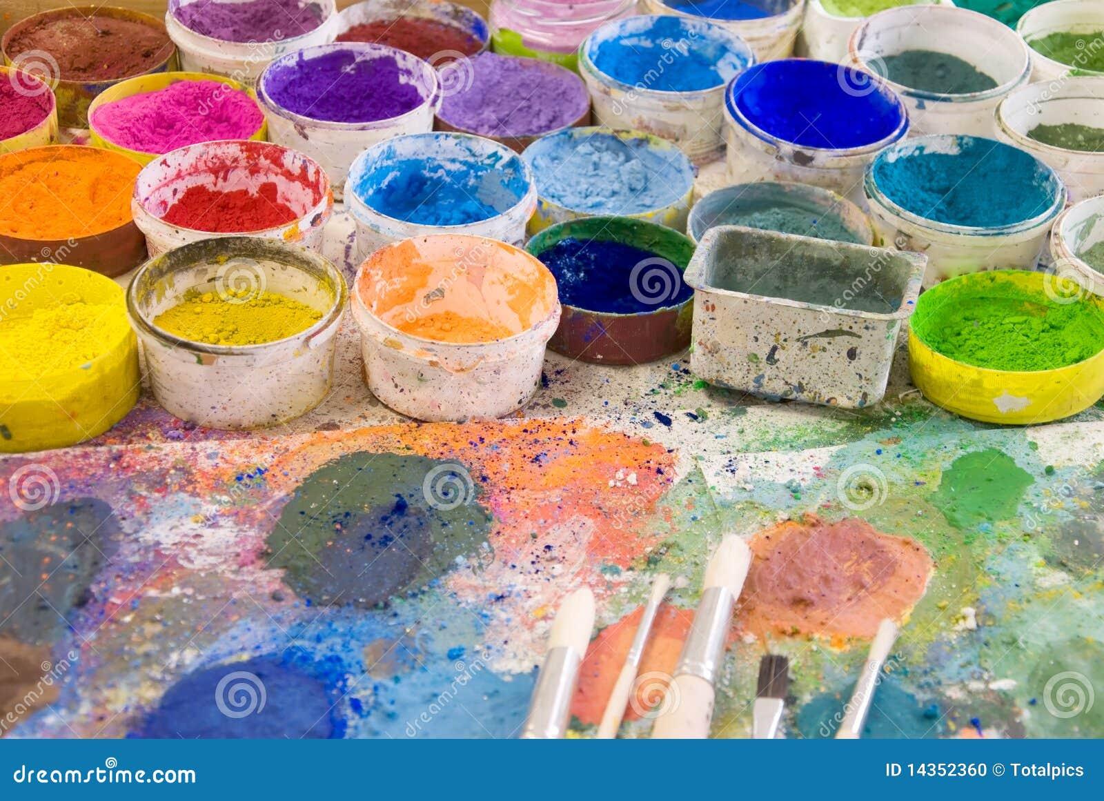 pigmentfarben stockfoto bild 14352360. Black Bedroom Furniture Sets. Home Design Ideas