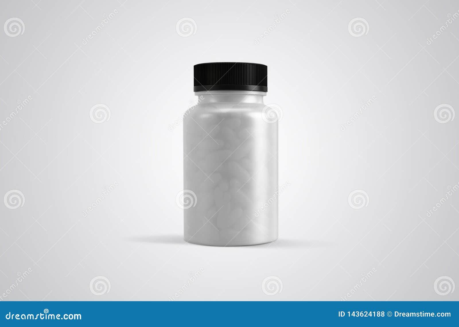 Pigułki lub nadprogram kapsuły rozjaśniają butelka frontowego widok
