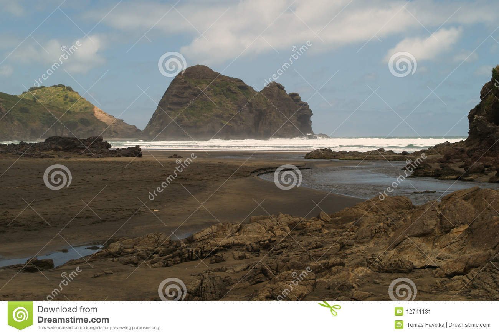 Piha пляжа