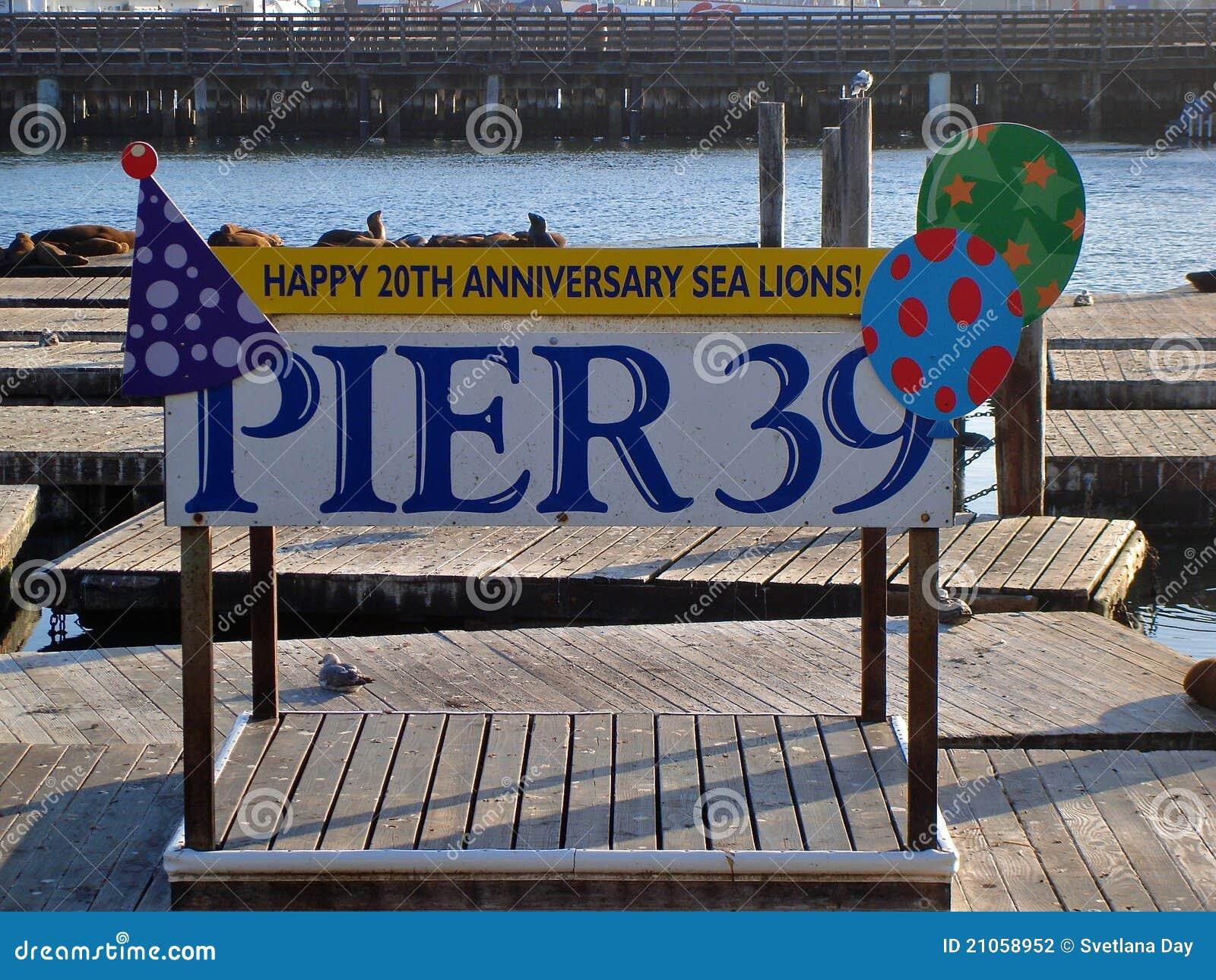 Pijler 39 van San Francisco 20ste Verjaardag