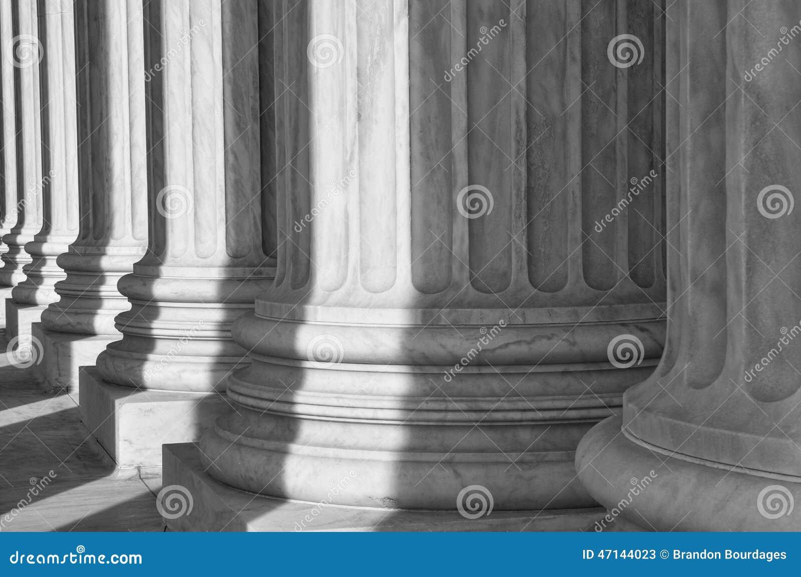 Pijlers van het Hooggerechtshof van de Verenigde Staten