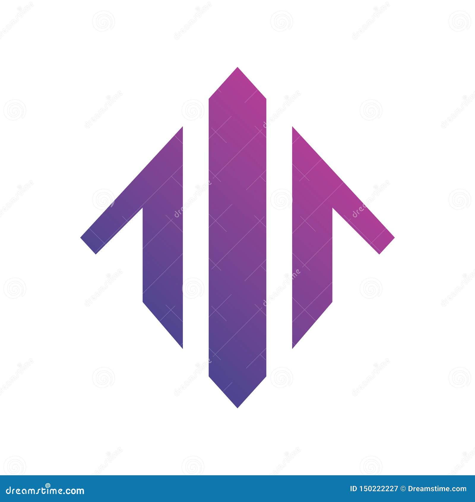 Pijlgrafiek op Logo Vector