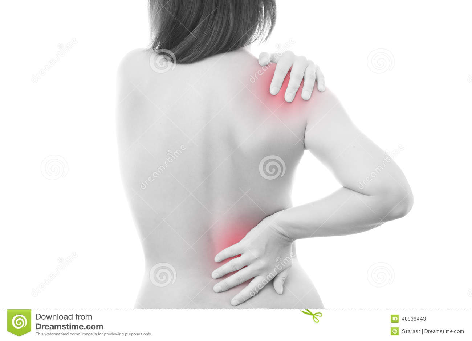 Pijn in een lichaam van de vrouw