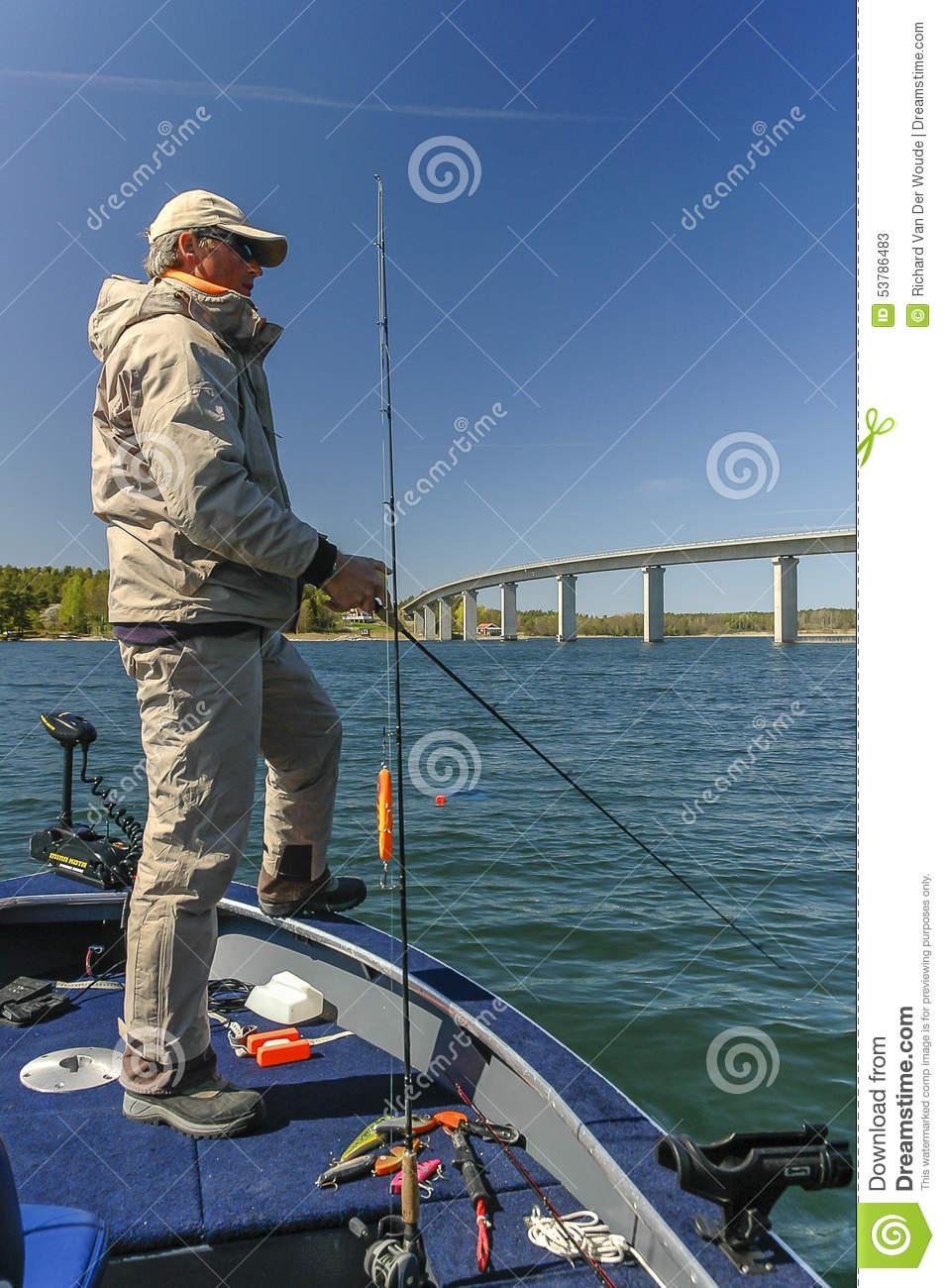 Pike fishing stock image image of fish blue fisherman for Fat guy fishing