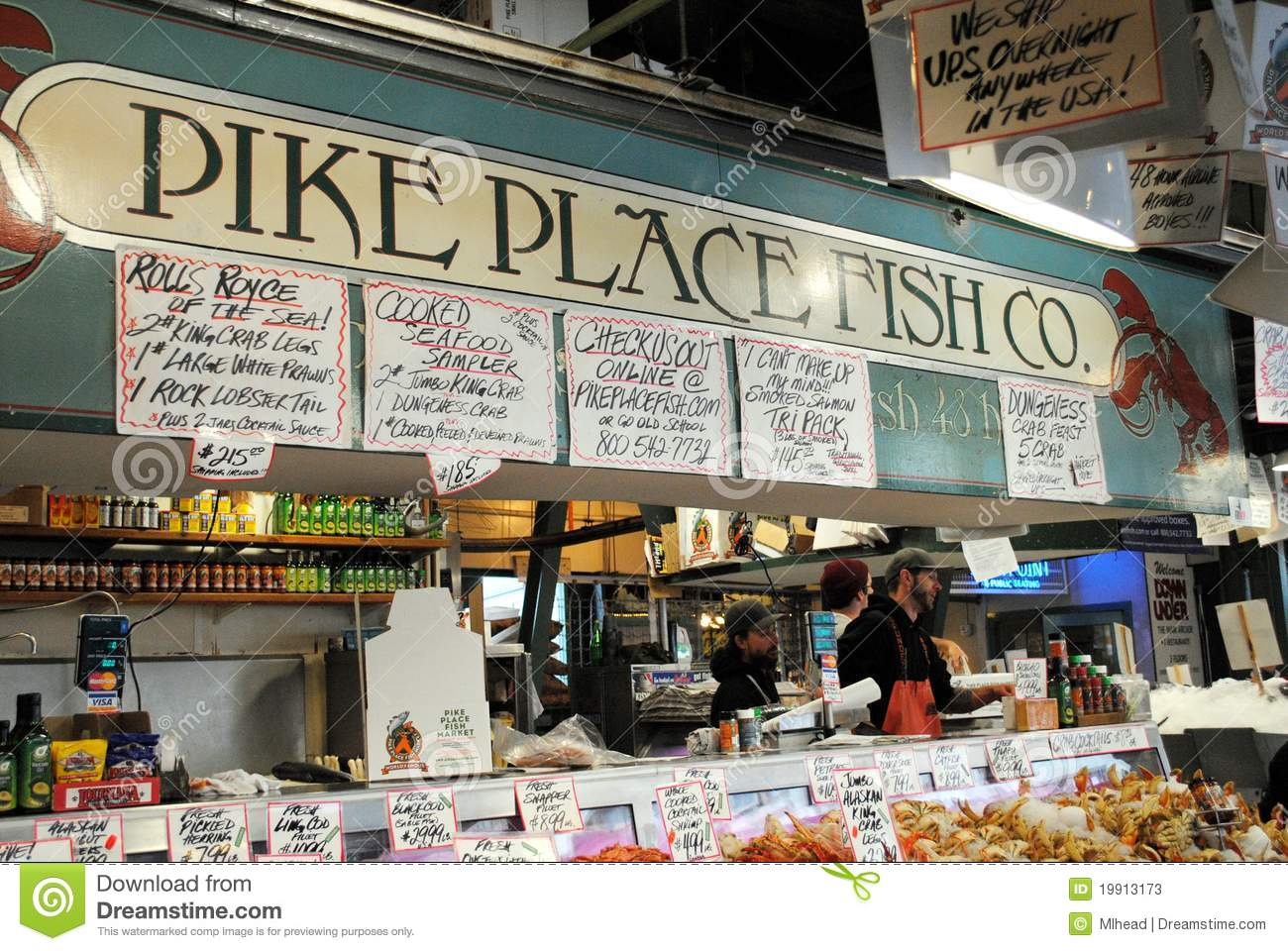 Pike place fish company editorial stock photo image for Famous fish market in seattle