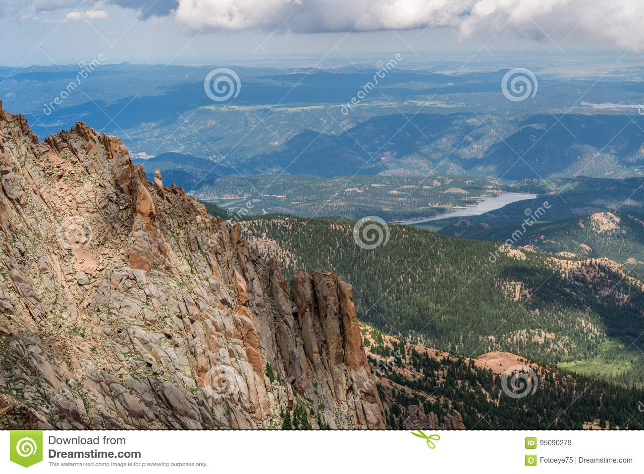 Pikes Peak Colorado Rocky Mountains Stock Image Image Of Nature Geological 95090279