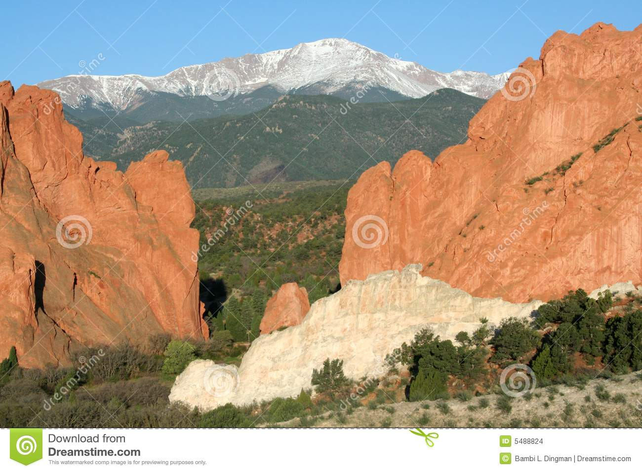 Pikes peak from the garden of the gods royalty free stock for Pikes nursery