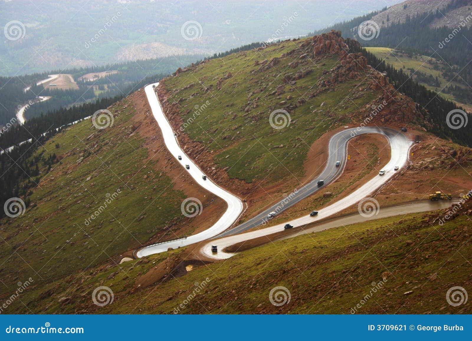 Pikes Peak Drive >> Pikes Peak Road Stock Image - Image: 3709621