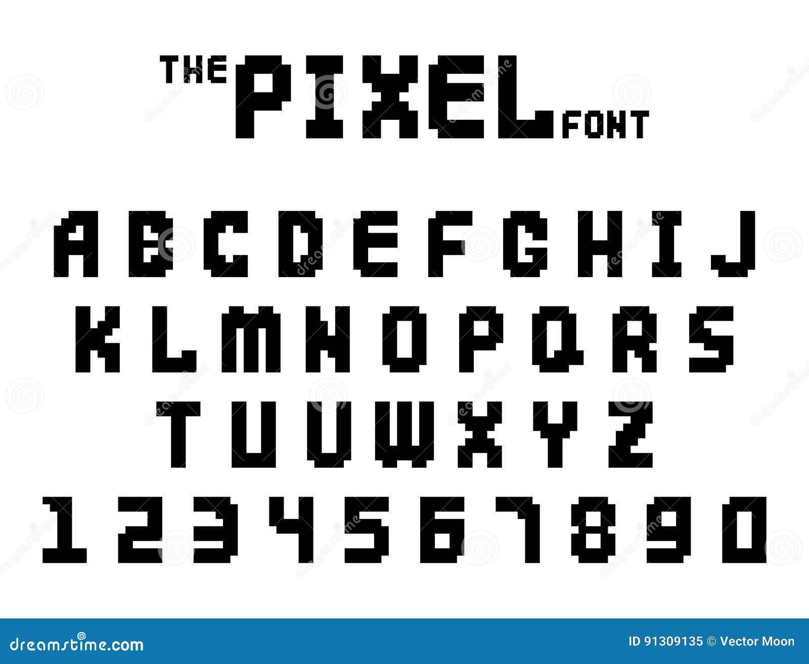 2f0ab3a753547 Piksel chrzcielnicy gry komputerowej projekta 8 kawałka listów retro wideo  liczb wektoru abc elektroniczny futurystyczny stylowy