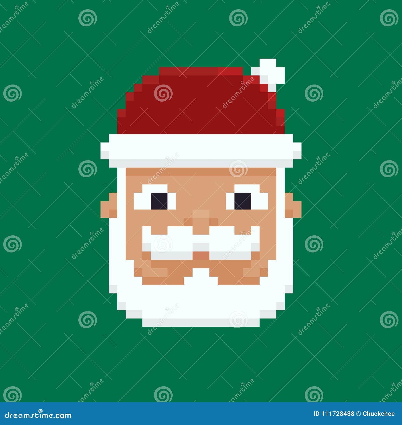 Piksel sztuka Santa