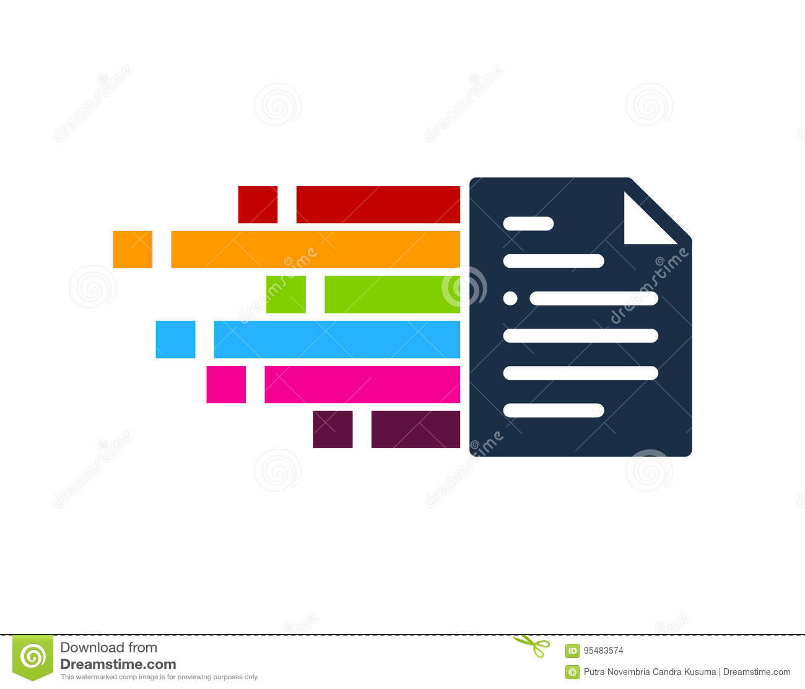 Piksla dokumentu ikony loga projekta element