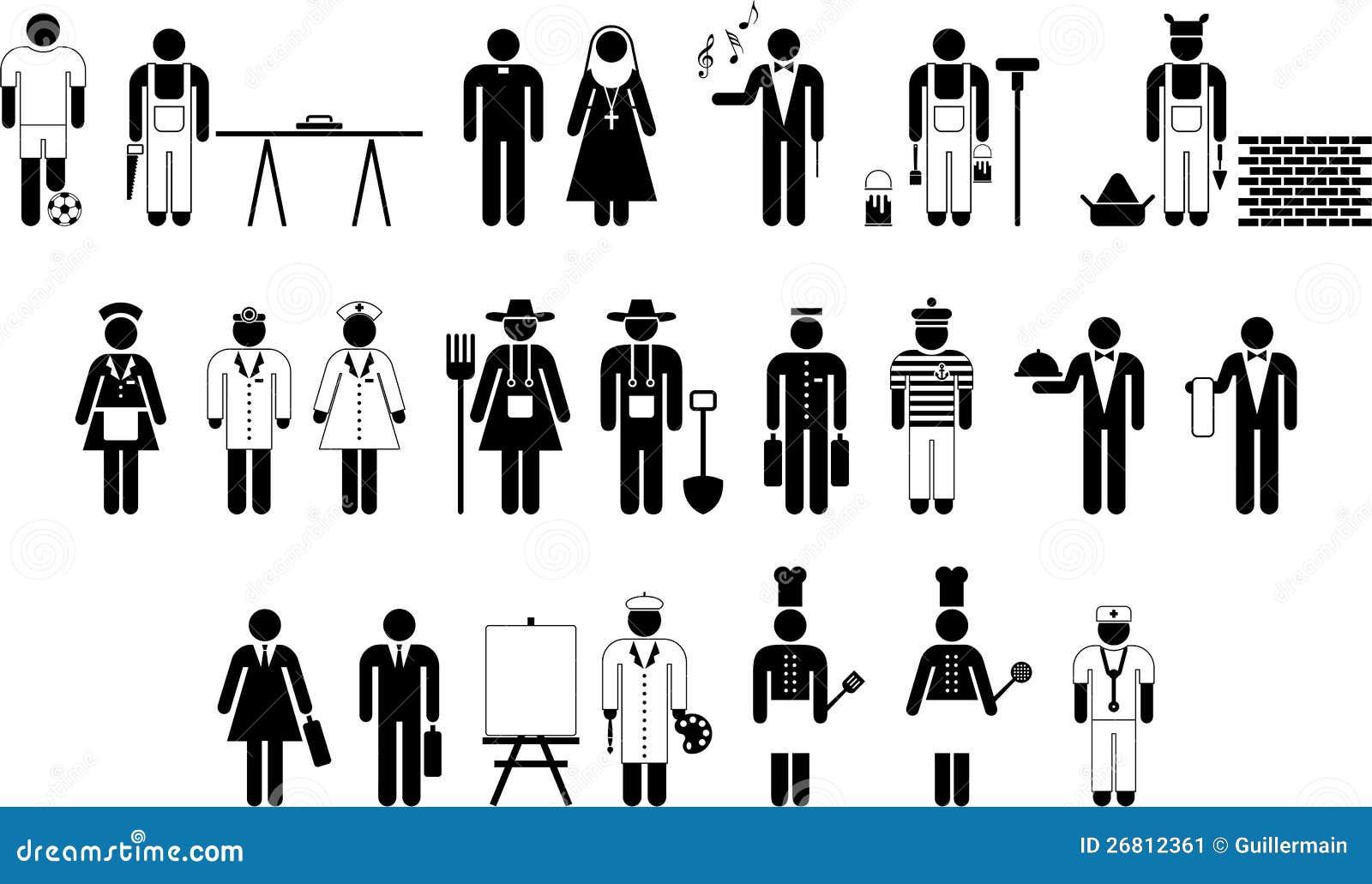 Piktogramy Pracownicy Ilustracja Wektor Ilustracja