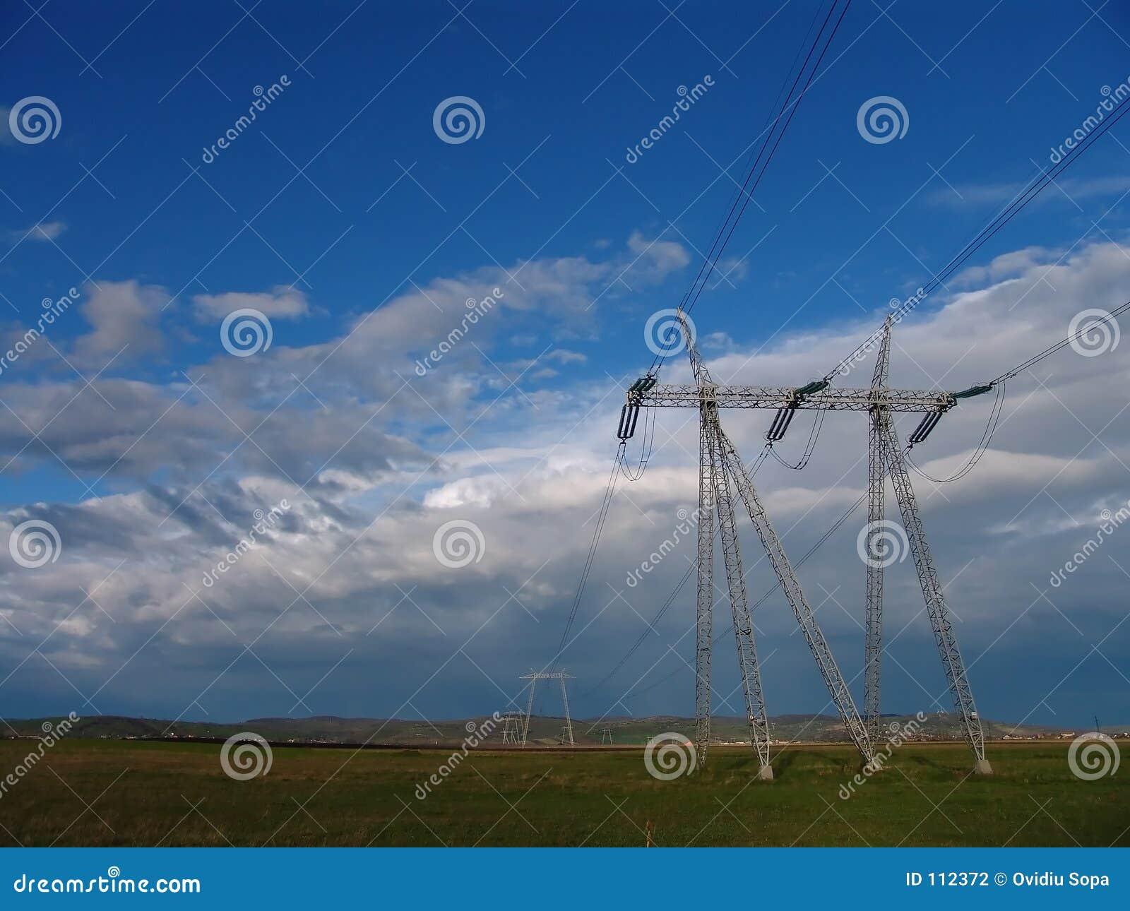 Pilão da eletricidade - linhas eléctricas