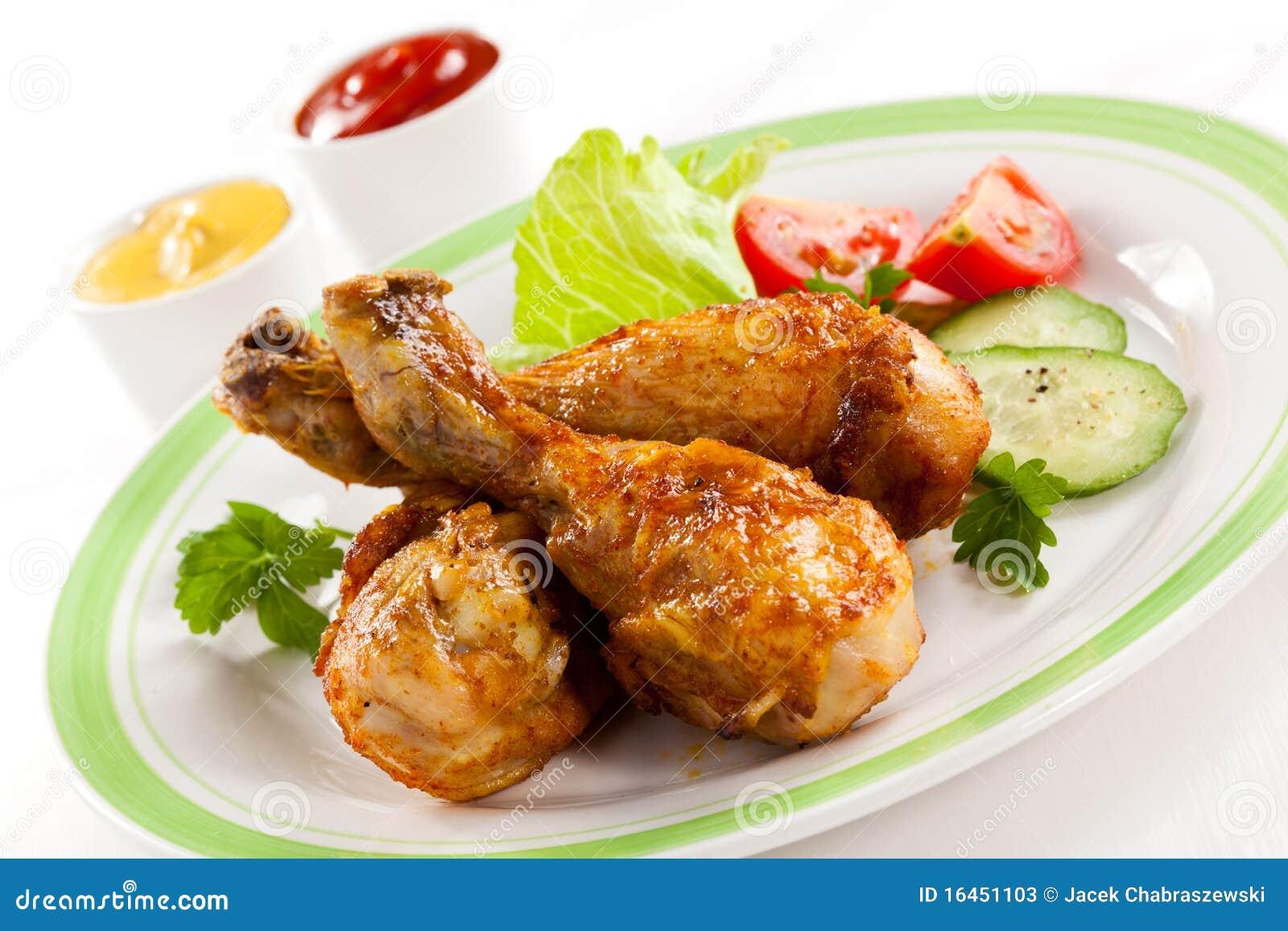 Pilões de galinha Roasted
