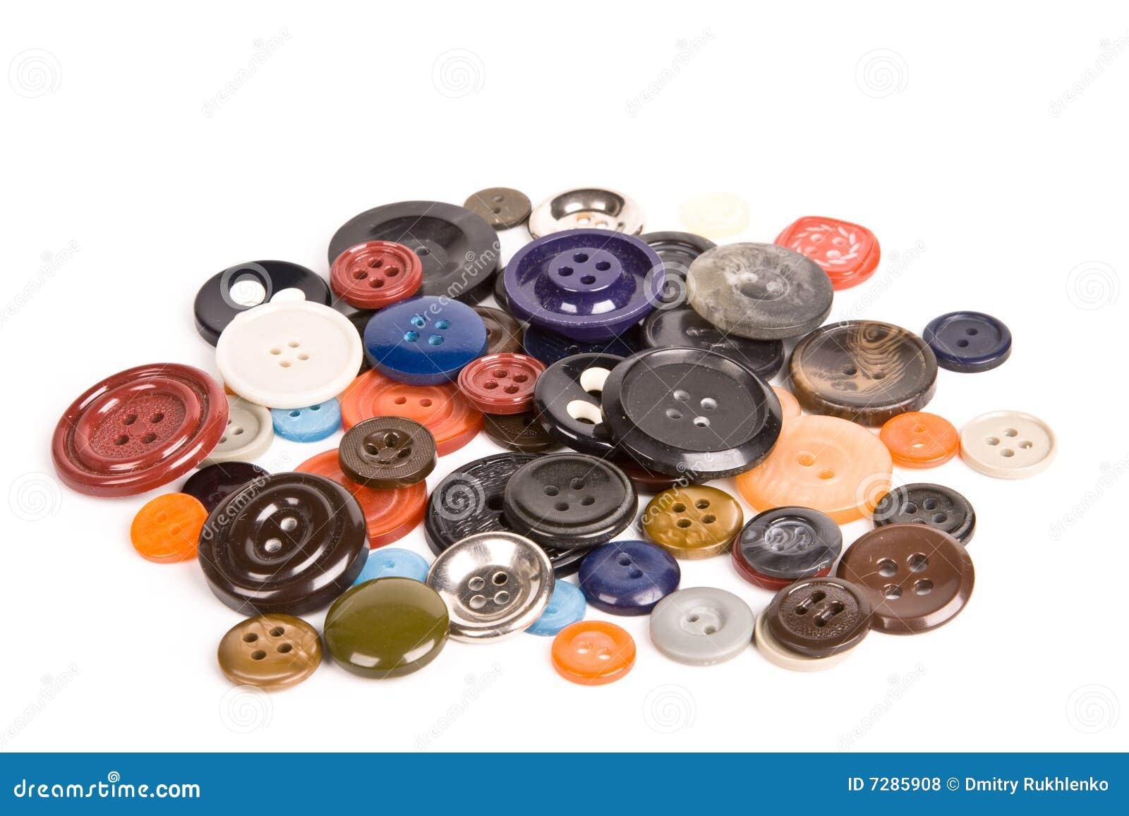 Pila de botones aislados